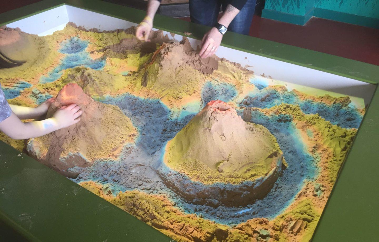 Sand table at Dinotropolis