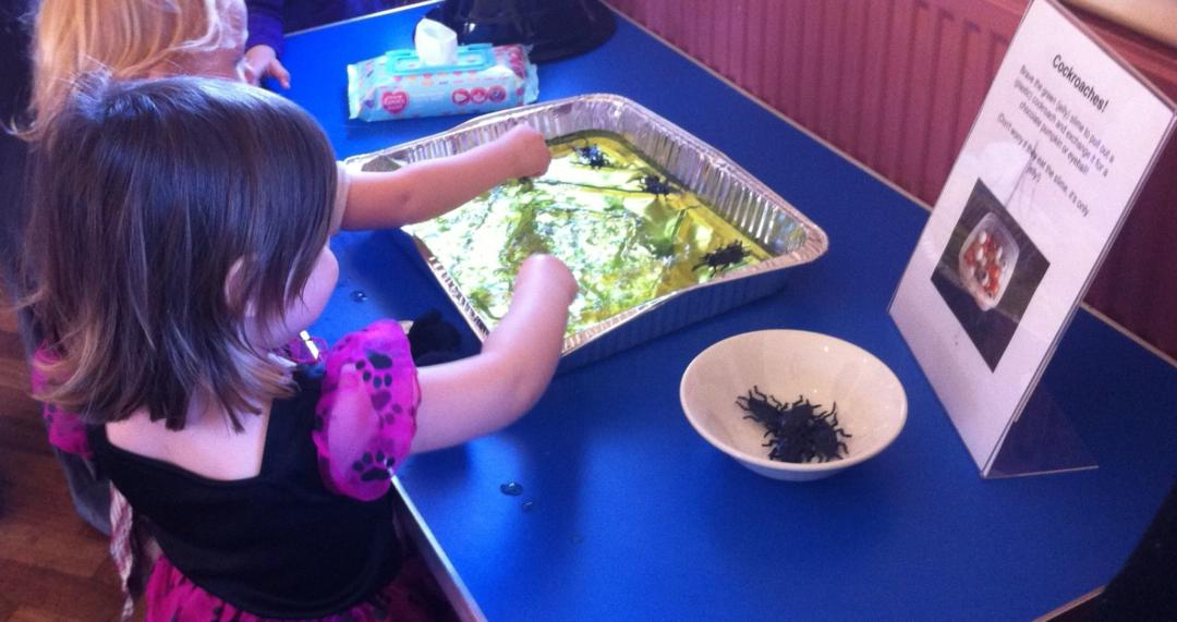 Messy play toddler group activities - jelly slime