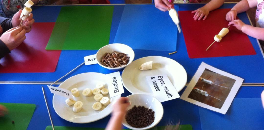 making banana people