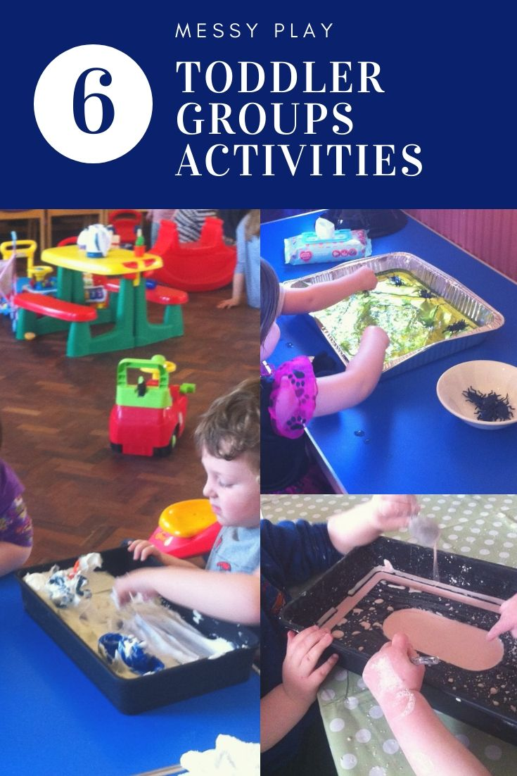 Messy play toddler group activities