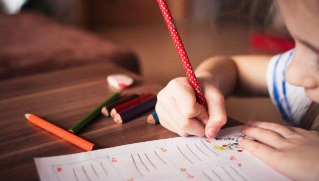 Child being tutored