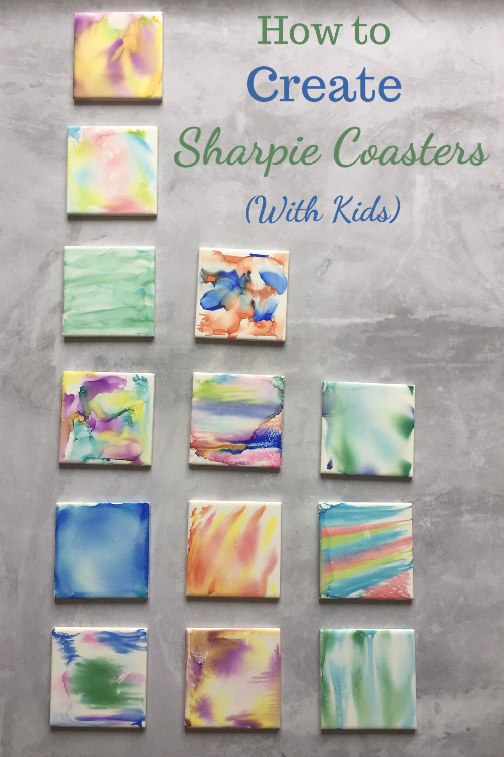 How to create sharpie coasters with kids