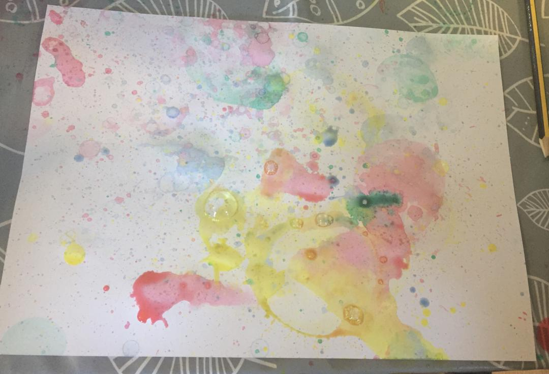 Bubble painting using Lots of bubbles