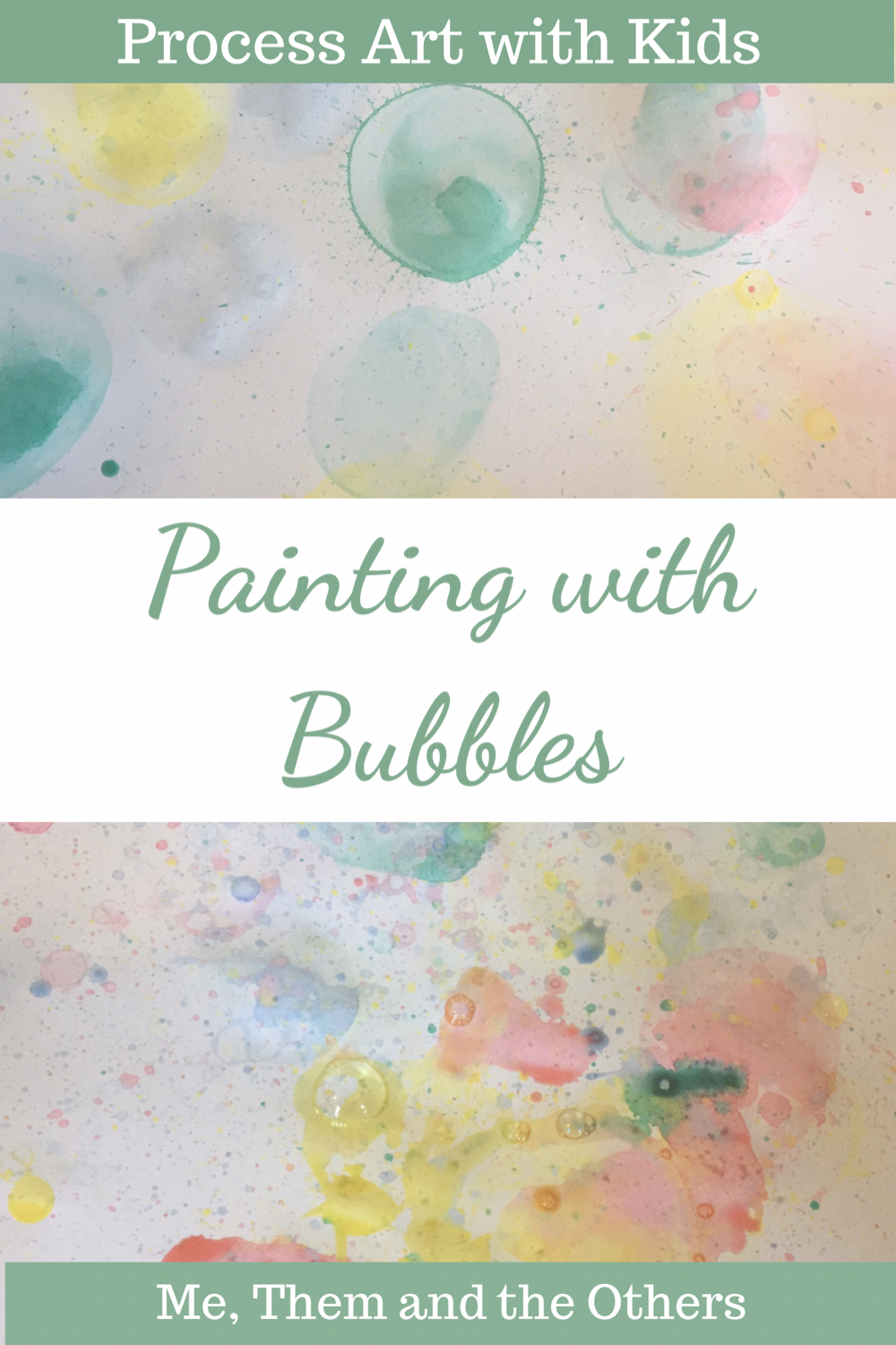 Process art: Painting with bubbles