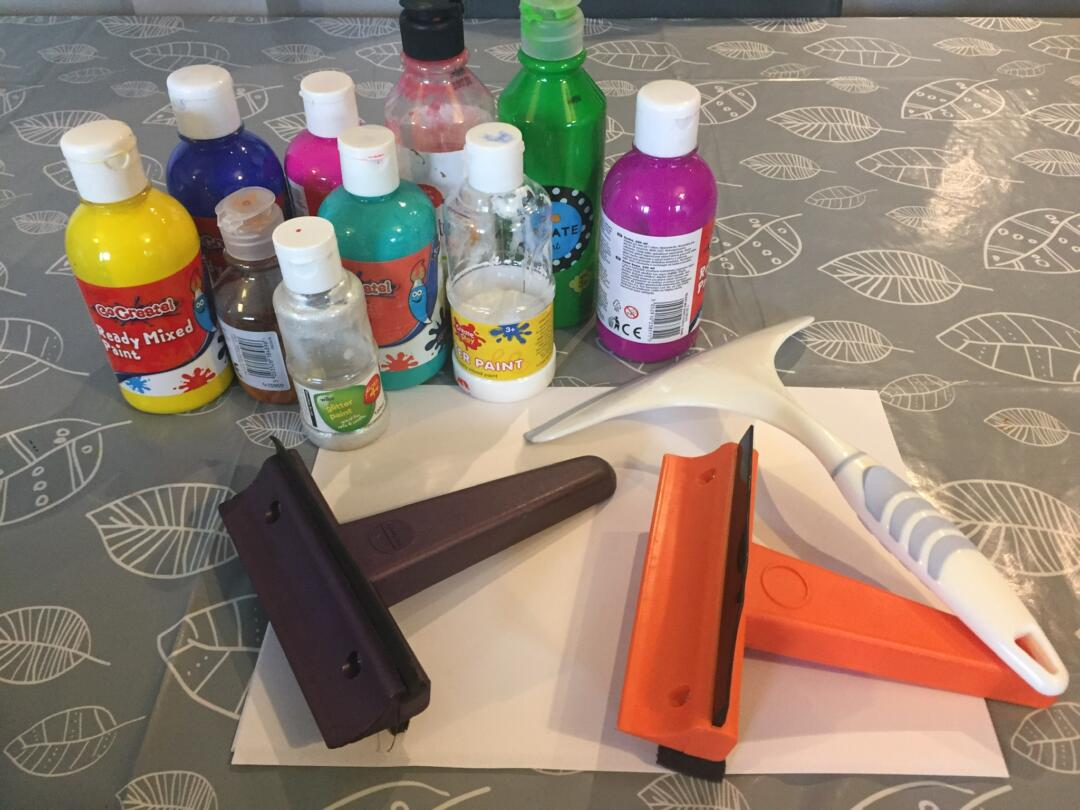 Equipment needed for squeegee painting