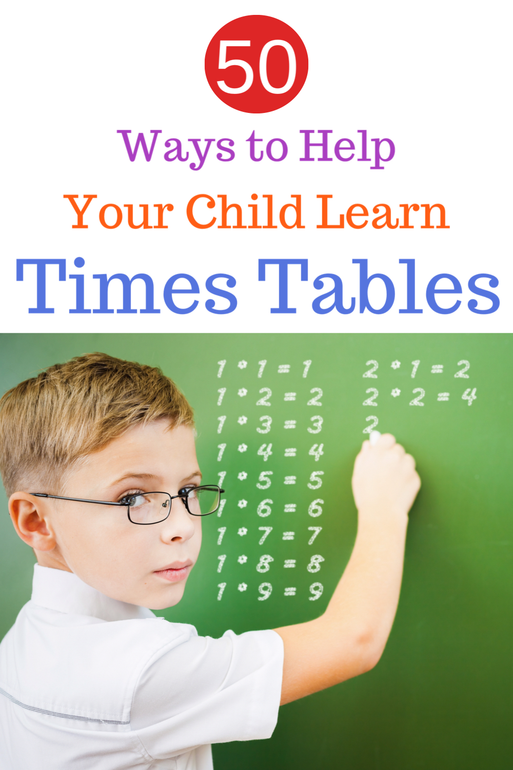 50 ways to help your child learn times tables