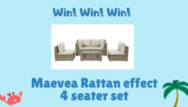 Rattan effect 4 seater set
