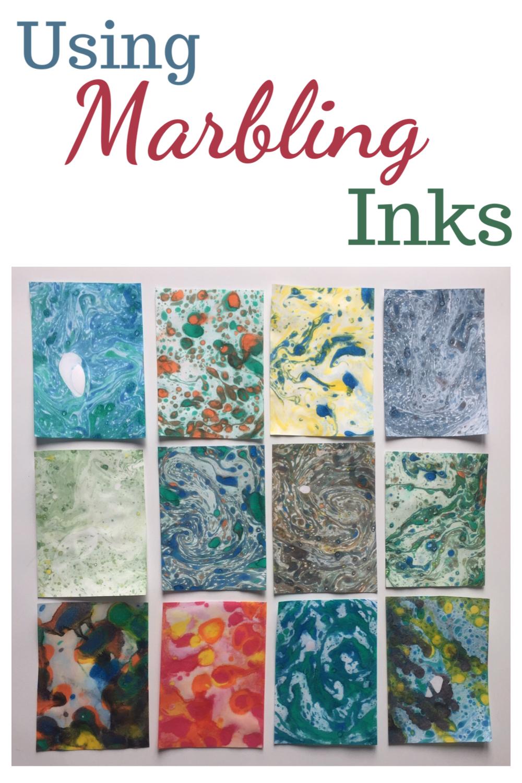Using marbling inks
