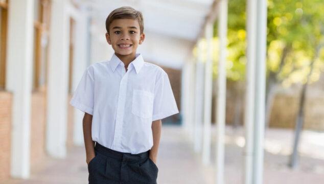 School boy ready to transition from KS1 to KS2