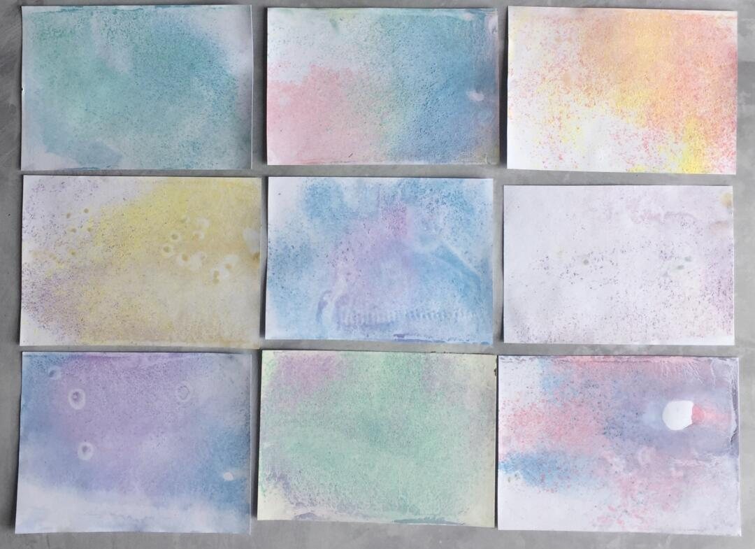 Chalk Marbling