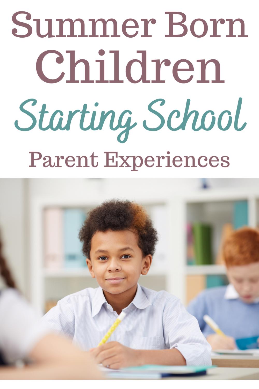 Summer born child starting school: parent experiences