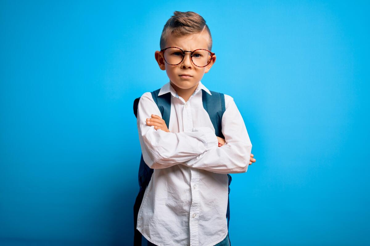 Grumpy child after school