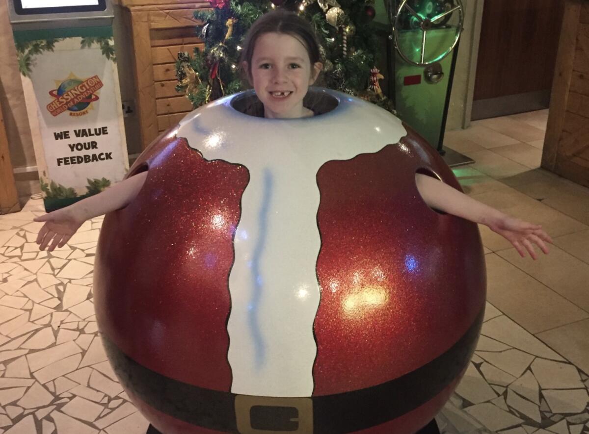 The festive touches at the Chessington Santa Sleepover
