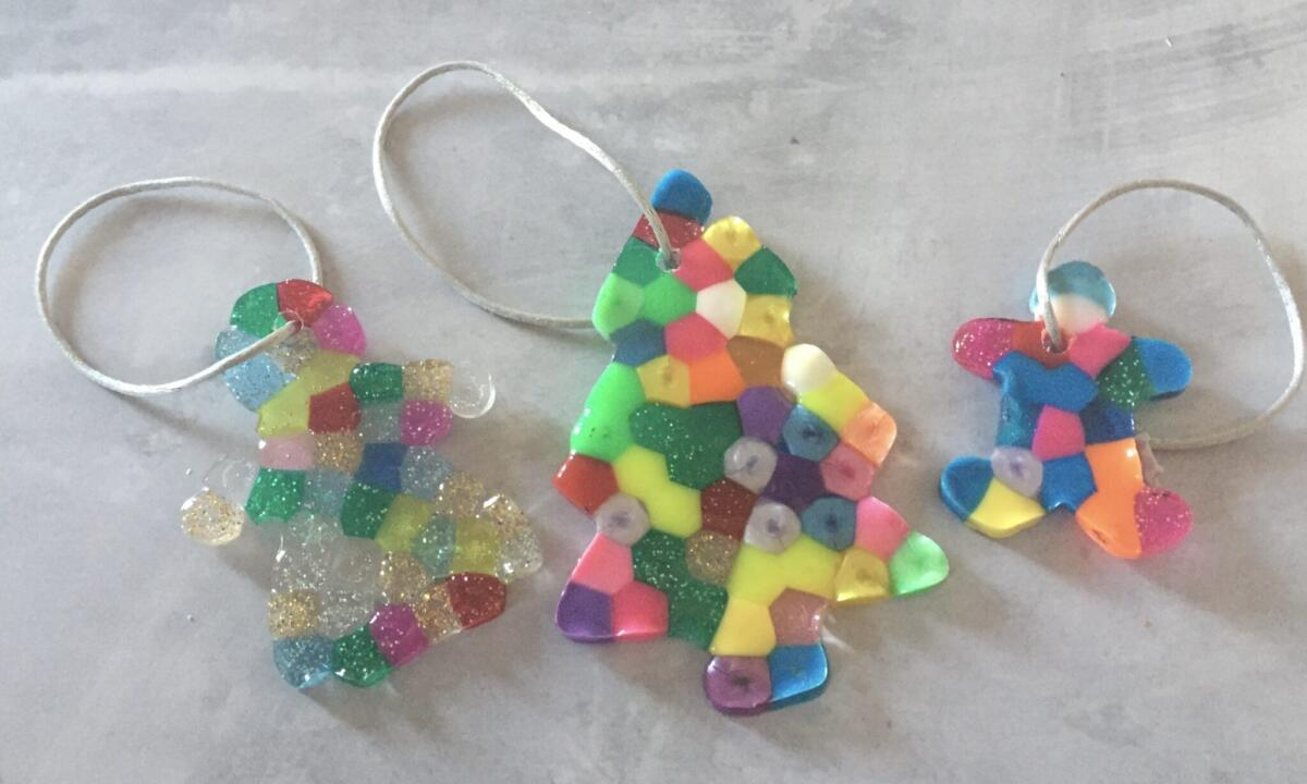Melted Bead Christmas Decorations