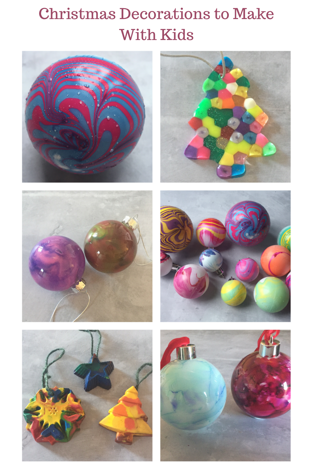 Christmas decorations to make with kids