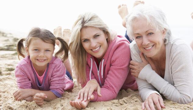 Mum, daughter, granddaughter