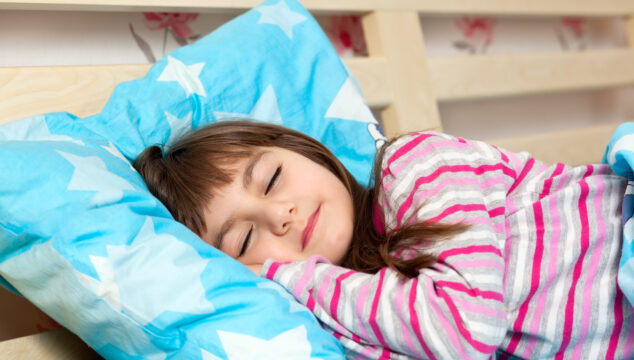 Child asleep after experiencing separation anxiety at night