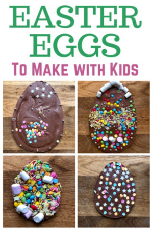 Flat Easter eggs to make with kids