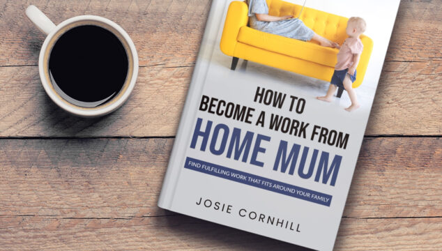 Work from home mum book On table with cup of coffee